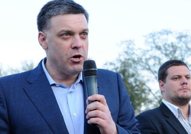 Lider partii nacjonalistycznej Swoboda Ołeh Tiahnybok