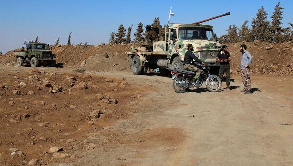 Siły syryjskiej opozycji w pobliżu miasta Al-Kunajtira - Sputnik Polska