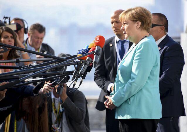 Kanclerz Niemiec Angela Merkel na nieformalnym szczycie UE w Bratysławie