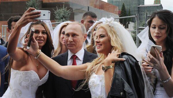 Prezydent Rosji Władimir Putin na uroczystej ceremonii otwarcia Dnia Miasta na Placu Czerwonym w Moskwie. - Sputnik Polska