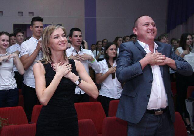 Prokurator Republiki Krym Natalja Pokłonska odwiedziła gimnazjum №1 w Kerczu.
