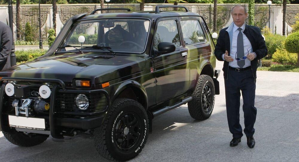 """Władimir Putin pokazał w Soczi swój samochód """"Niva, 2009 rok."""