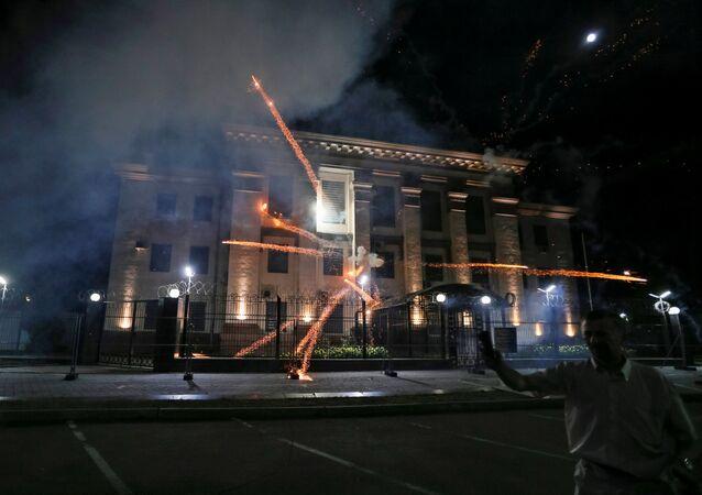 Atak na ambasadę Rosji w Kijowie