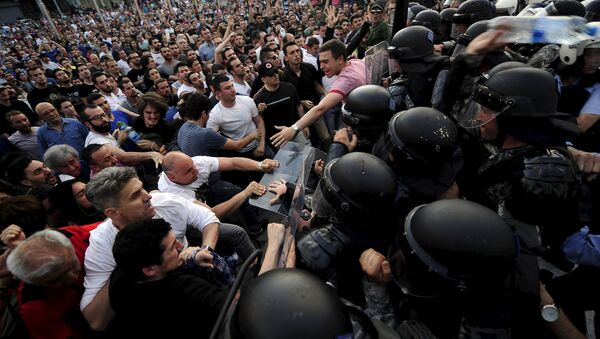 Protesty w Skopje, Mazedonia, 5 maja 2015 - Sputnik Polska