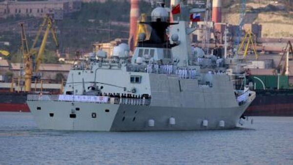 Okręty wojenne Rosji i Chin na Morzu Śródziemnym - Sputnik Polska