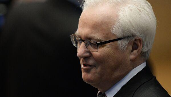 Stały przedstawiciel Rosji przy ONZ Witalij Czurkin. - Sputnik Polska