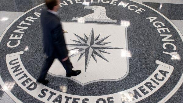 Logo CIA w siedzibie organizacji w Langley, Wirginia - Sputnik Polska