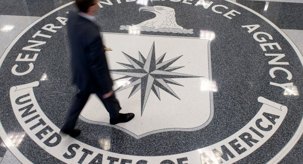 Logo CIA w siedzibie organizacji w Langley, Wirginia