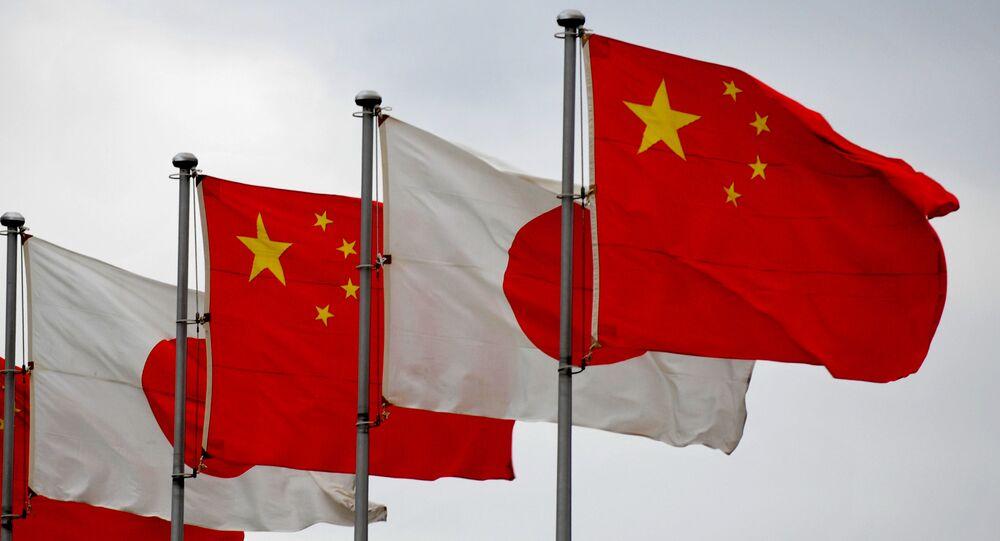 Flagi Japonii i Chin