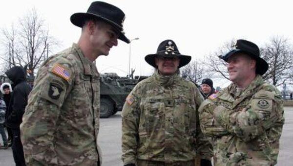 Amerykańscy żołnierze podczas Dragoon Ride na Litwie - Sputnik Polska