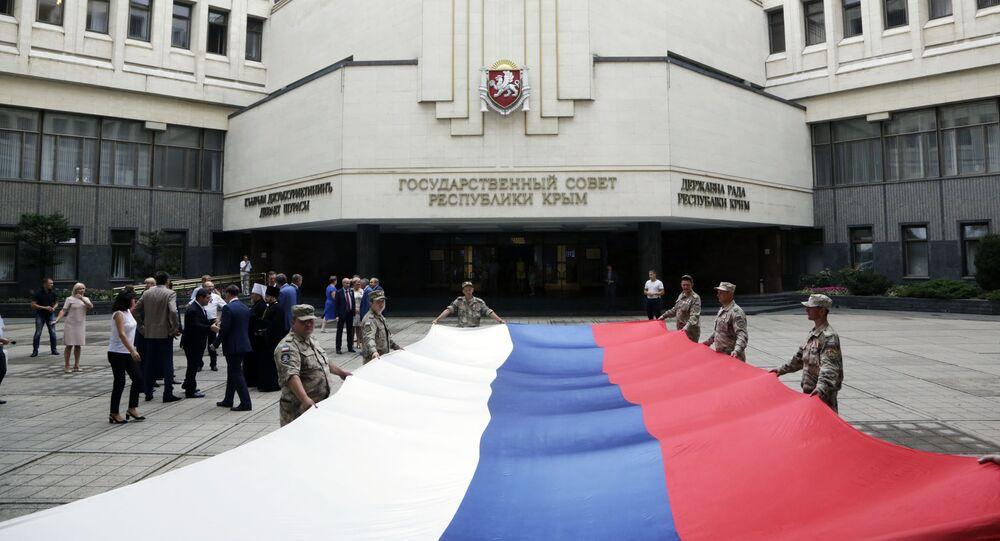 Obchody Dnia Flagi Rosyjskiej w Symferopolu