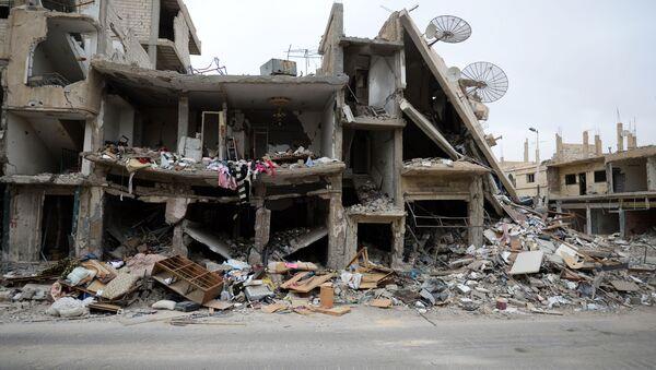 Ruiny domów. Palmira - Sputnik Polska