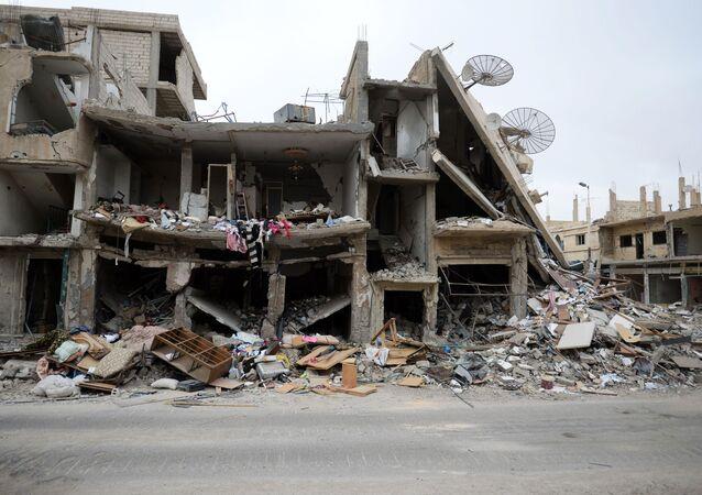Ruiny domów. Palmira