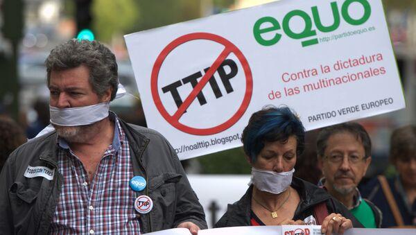 Protesty w Europie przeciwko TTIP - Sputnik Polska