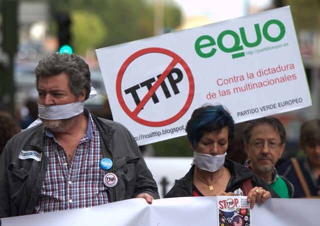 Protesty w Europie przeciwko TTIP