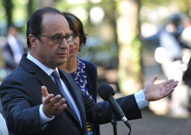 Prezydent Francji François Hollande
