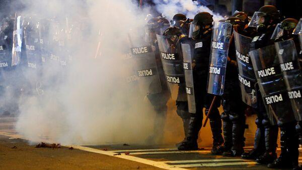 Protest w Charlotte po śmierci Afroamerykanina - Sputnik Polska