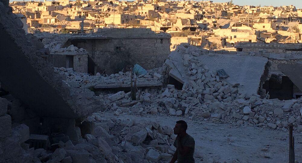 Obóz Handarat w okolicach Aleppo po wyzwoleniu z rąk terrorystów