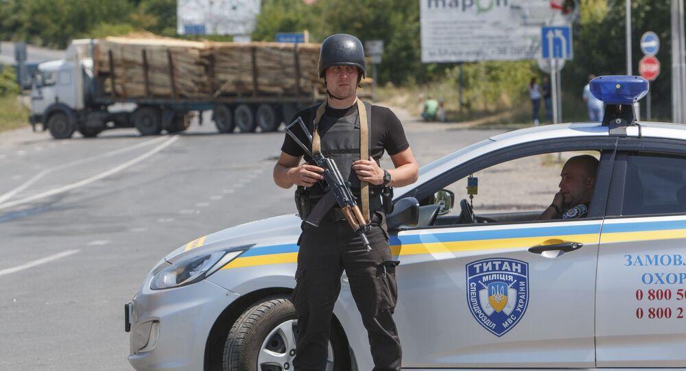 Ukraińska policja. Zdjęcie archiwalne