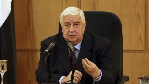 Minister spraw zagranicznych Syrii Walid Muallem - Sputnik Polska