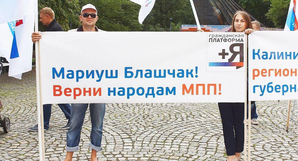 Mieszkańcy Kaliningradu protestują przeciwko zawieszeniu MRG