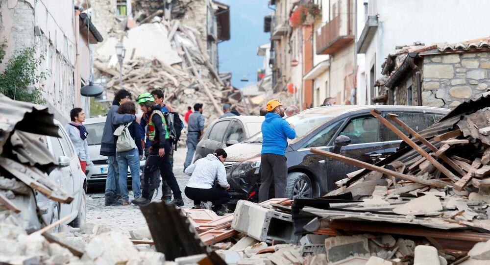 Skutki trzęsienia ziemi w Amatrice, Włochy