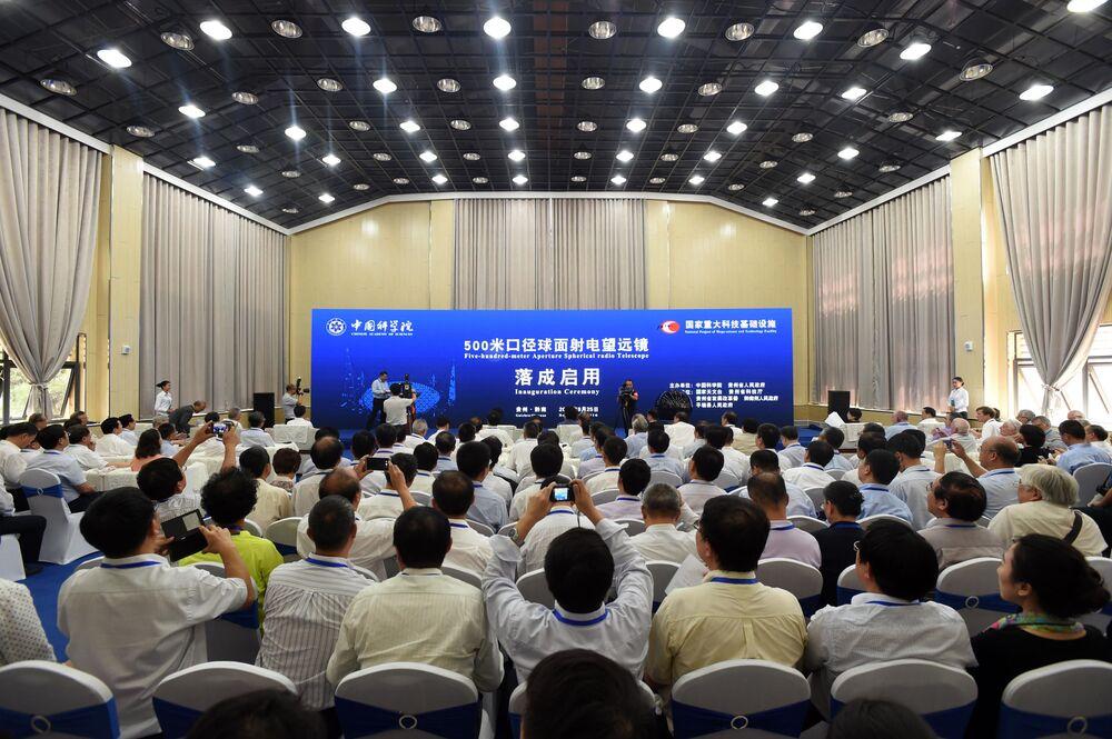 Ceremonia uruchomienia radioteleskopu FAST w Chinach