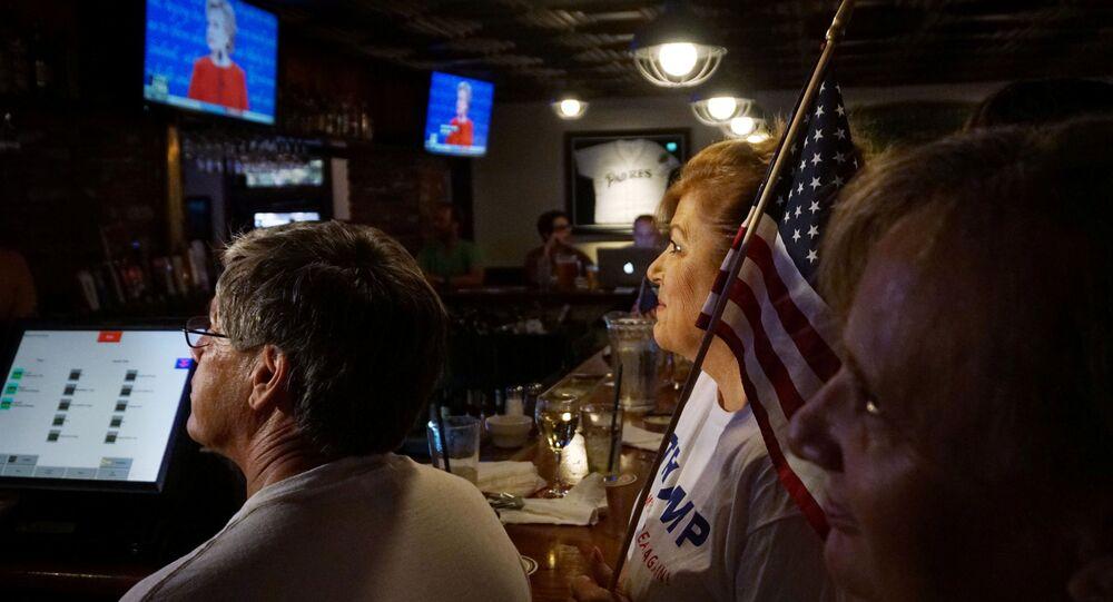Transmisja debaty kandydatów na prezydenta USA Donalda Trumpa i Hillary Clinton