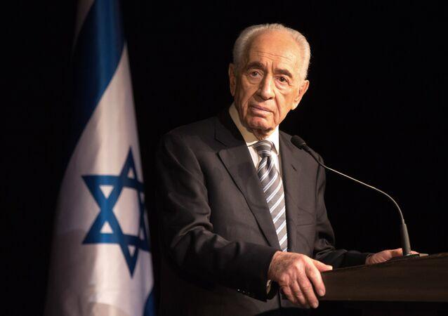 Były prezydent Izraela Szimon Peres. 2014 rok.