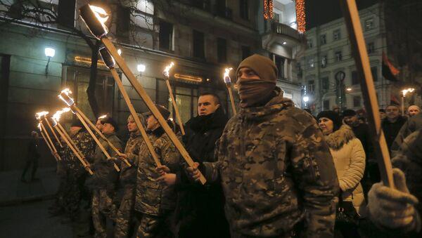 Marsz nacjonalistów w Kijowie - Sputnik Polska