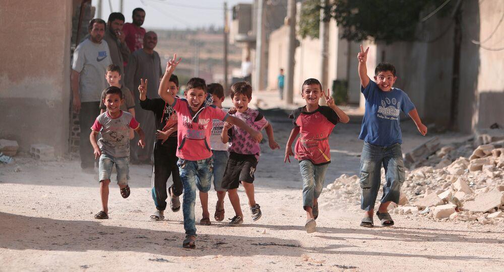 Dzieci w Aleppo