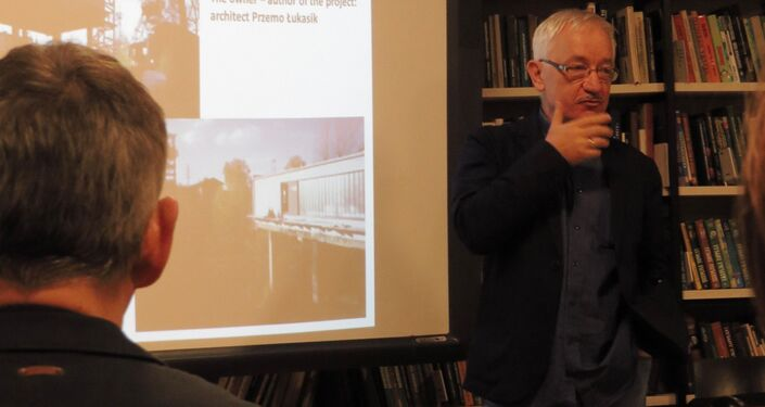 Profesor Krzysztof Gasidło wygłasza swój wykład