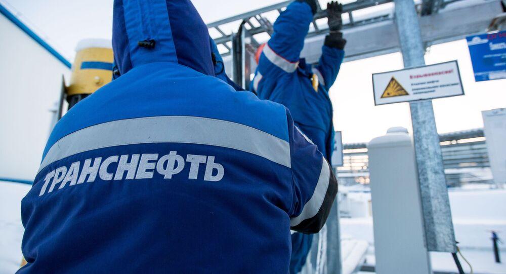 """Prace remontowe przy przepompowni ropy firmy """"Transnieft"""""""