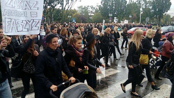 Czarny Protest w Gdyni, 03.10.2016 - Sputnik Polska