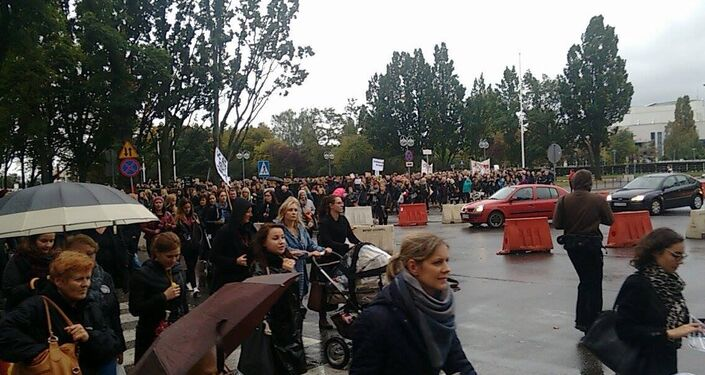 Czarny Protest w Gdyni, 03.10.2016