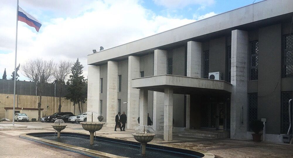 Budynek ambasady Rosji w Damaszku
