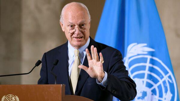 Specjalny wysłannik sekretarza generalnego ONZ ds. Syrii Staffan de Mistura - Sputnik Polska