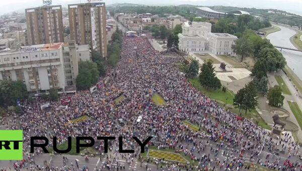Akcje protestacyjne w Macedonii - Sputnik Polska