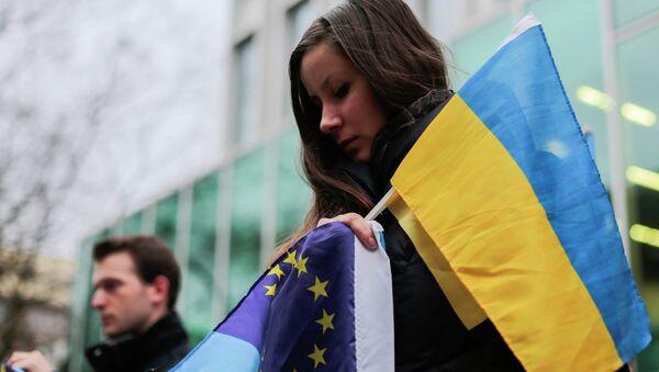 Ukraińscy demonstranci - Sputnik Polska