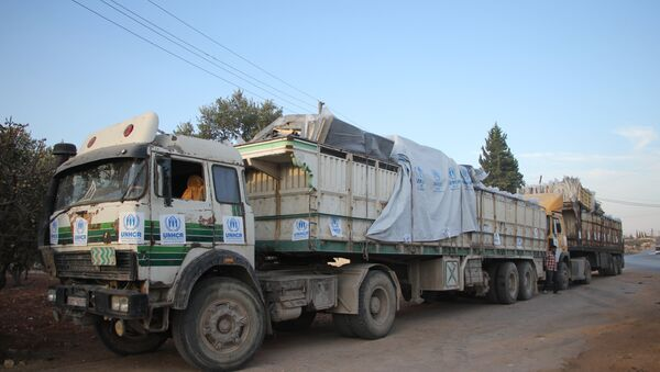 Konwój z pomocą humanitarną, Aleppo - Sputnik Polska