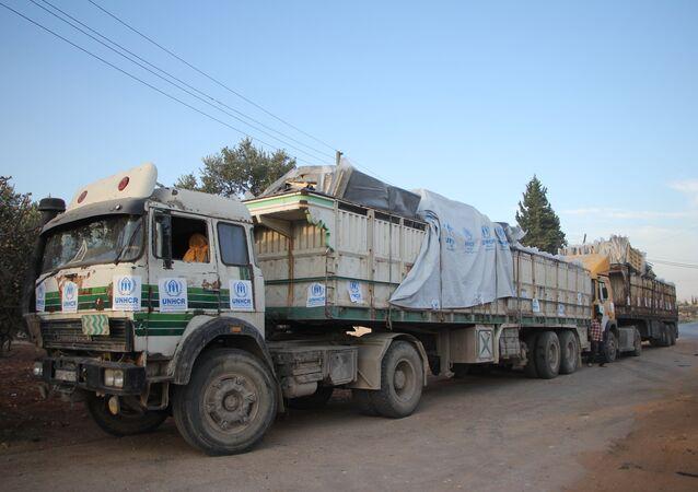 Konwój z pomocą humanitarną, Aleppo
