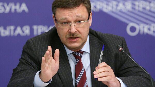 Szef Komitetu Spraw Zagranicznych Rady Federacji Konstantin Kosaczow - Sputnik Polska