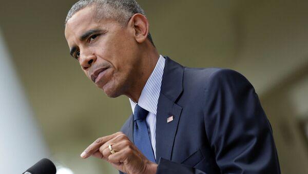 Prezydent USA Barack Obama w Waszyngtonie - Sputnik Polska