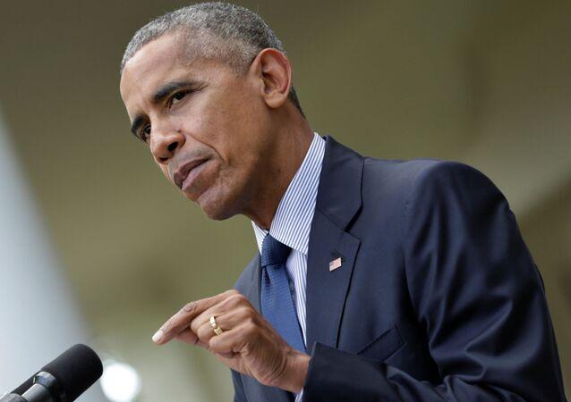 Prezydent USA Barack Obama w Waszyngtonie