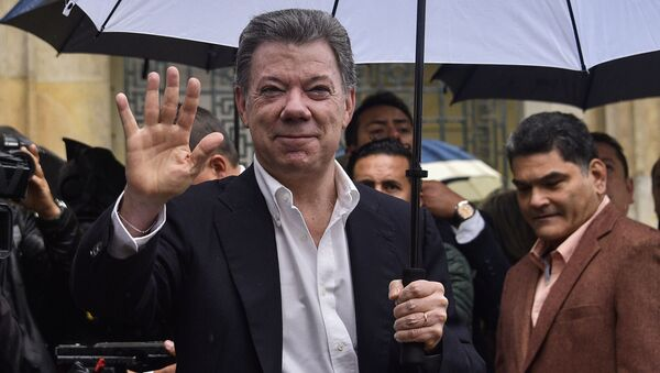 Prezydent Kolumbii Juan Manuel Santos - Sputnik Polska