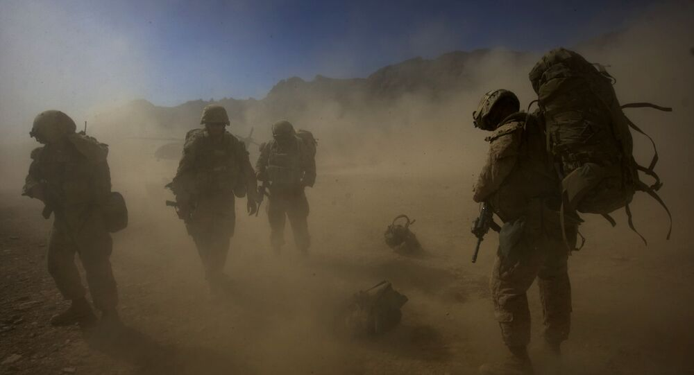 Amerykańscy desantowcy w Afganistanie