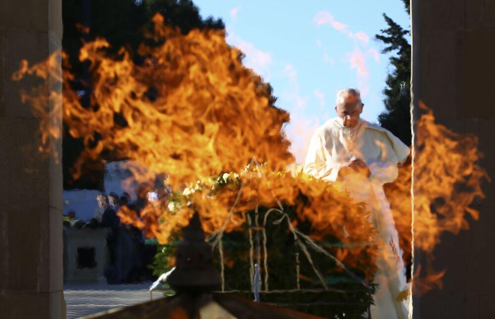 Papież Franciszek podczas wizyty w Baku, Azerbejdżan
