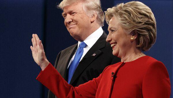 Kandydaci Partii Republikańskiej i Demokratycznej na prezydenta USA Donald Trump i Hillary Clinton - Sputnik Polska
