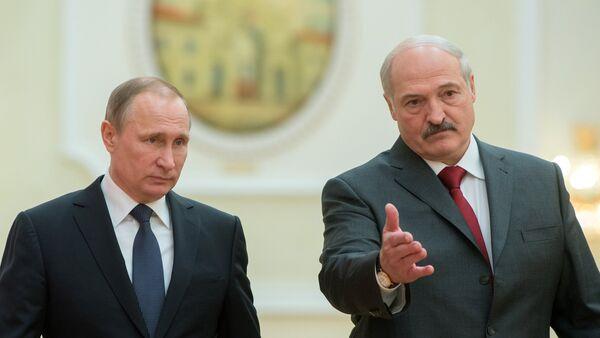 Władimir Putin i Aleksander Łukaszenka. 25 lutego 2016 roku - Sputnik Polska