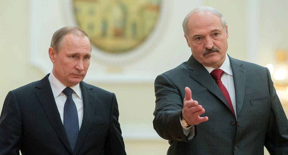 Władimir Putin i Aleksander Łukaszenka. 25 lutego 2016 roku